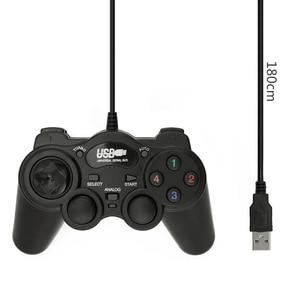 Image 5 - Wired Joypad Gamepads Gamepad ג ויסטיק USB 2.0 הלם בקר משחק עבור מחשב מחשב נייד מחשב מתנה טובה ג ויסטיק