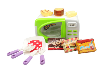 DA XIN Children Pretend Role Play House Toy Mini Kitchen Toys Cute Microwave Oven Early Development and Education