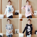 To film in the pregnant women T-shirt with long sleeves long autumn new maternity han edition loose lovely women coat