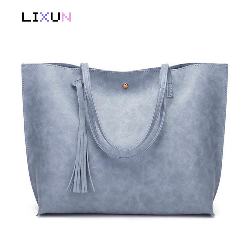 Female PU Leather Tassel Shoulder Bag Women Big Tote Shopping Handbags Ladies Hand Bag Luxury Brand Designer Top Handle Bags women bag set top handle big capacity female tassel handbag fashion shoulder bag purse ladies pu leather crossbody bag