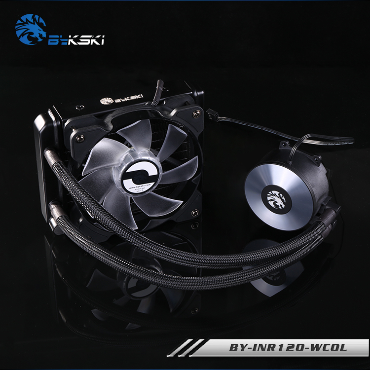 BYKSKI BY-INR-WCOL cooler integrated desktop CPU water-cooled radiator water-cooling radiator ice source computer water cooling cpu radiator fan desktop integrated cpu water cooled radiator mute set