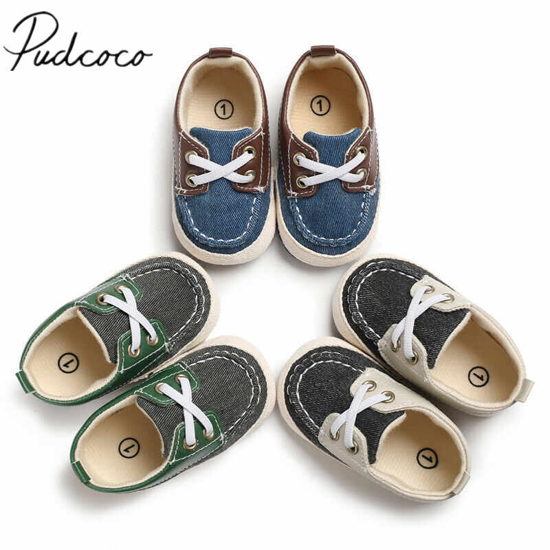 2019 First Walkers Infant Newborn Baby Boy Girl Soft Sole Cotton Anti-slip Shoes Sneaker Prewalker Patchwork Shoes 0-18M