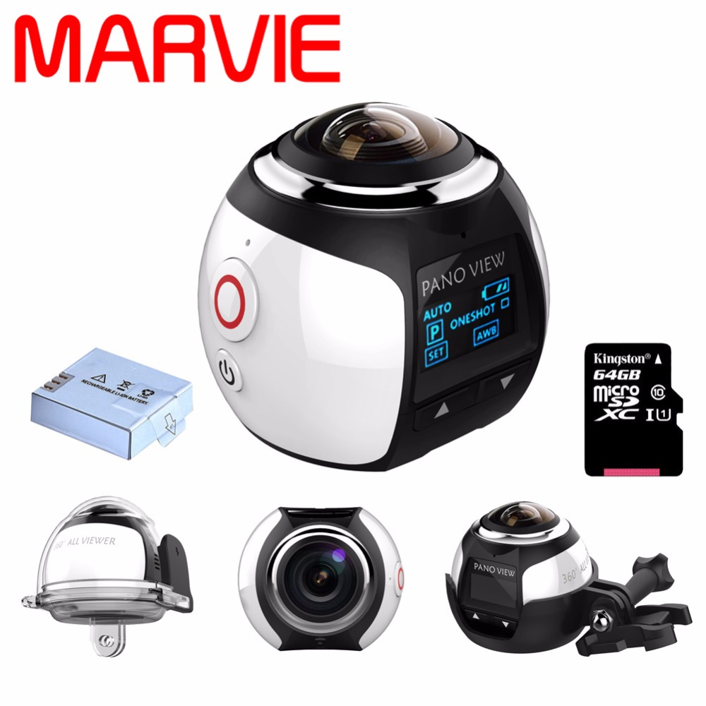 Marvie Camera deportiva 360 Panoramic Video Camera 4K Resolution 30fps 3D Video Images never been so