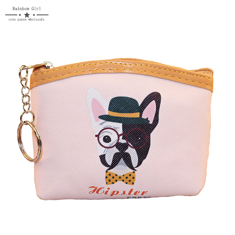 Rainbowgirl 2017 New Bag Coin purses wallet ladies 3D printing dog animal change fashion cute small zipper bag for women 2017new coin purses wallet ladies 3d printing cats dogs animal big face fashion cute small zipper bag for women mini coin purse