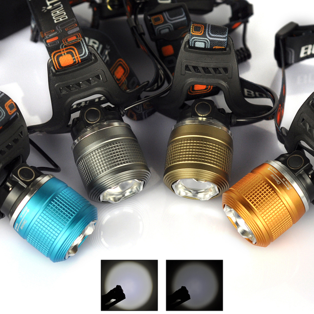 High Power 1800LM Head Torch XM-L T6 Beam LED Head Lamp 3-Mode Zoomable Headlight Headlamp Hunting Equipment+AC Charger