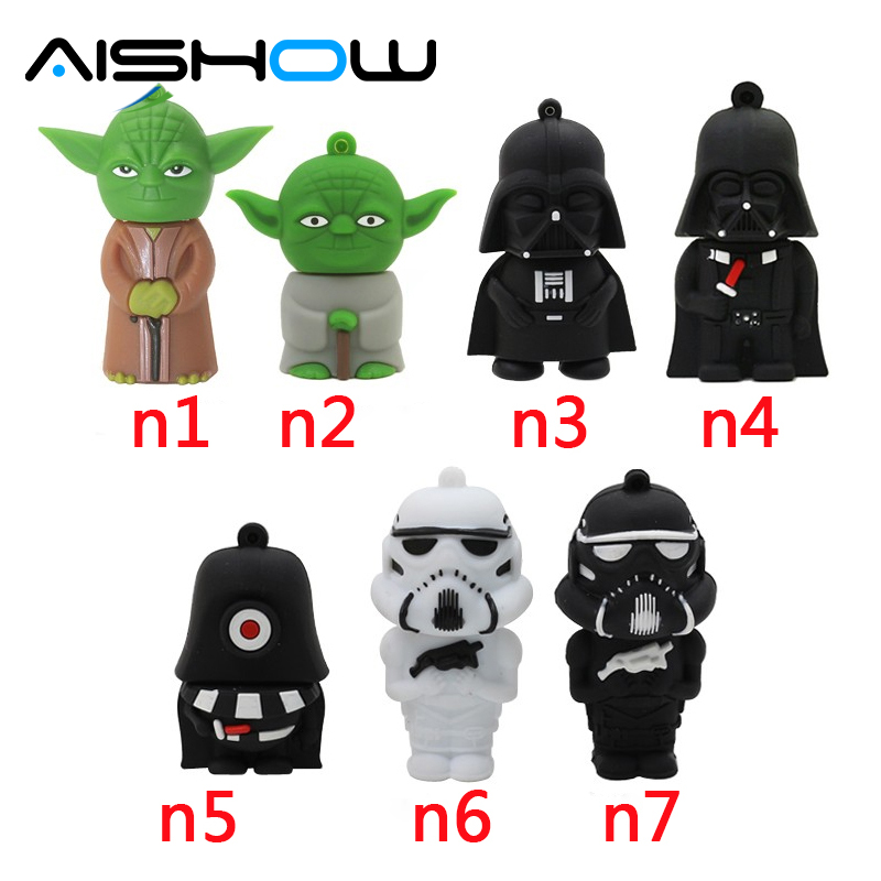 2016 კალამი დრაივი Star Wars Character Combination Darth Vader Yoda USB Flash Drive კალამი 64 GB 32 GB 16 GB 8 GB 8 GB Memroy Stick გულსაკიდი
