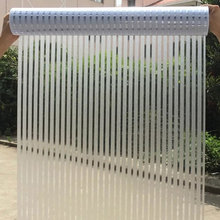 Stripe Self-adhesive 3D Window film Frosted PVC Static Cling glass sticker Bathroom office Meeting Room decorative Length 200cm