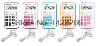 2016 Mini font b Calculator b font with Lanyard candy color Digital Electronic Calculadora Counter Calculating