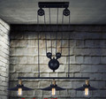 3 head Creative Industrial pendant lights vintage pendant lamp for bedroom dining room pulley pendant lamps home lighting