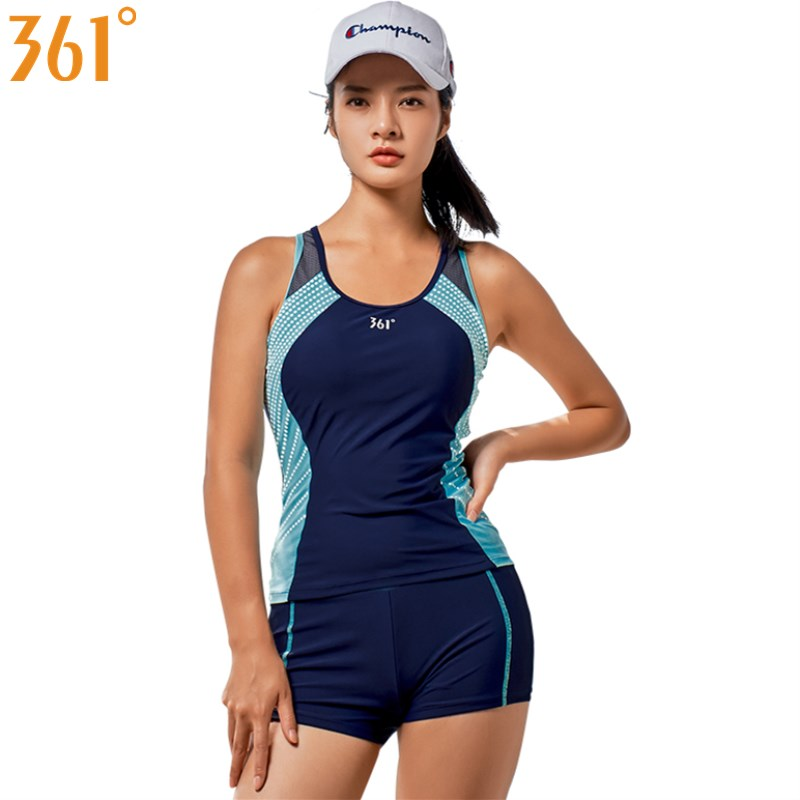 361 Female Swimsuit Two-Piece Suits Sports Tankini Swimsuit Women Swimwear Girls Swim Wear Beach Surfing 2 Pieces Swimming Suit