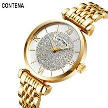CONTENA Mulheres relógios Senhoras relógios de Luxo famosa marca de Relógios movimento Japão o women'Wrist Relógios Relogio Femininos