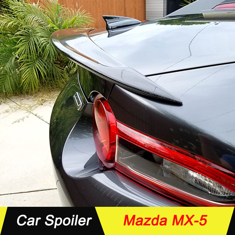 <font><b>Spoiler</b></font> For <font><b>MAZDA</b></font> <font><b>MX5</b></font> MX-5 CARBON FIBER ND Miata Garage Vary Style <font><b>rear</b></font> tail wing decoration for <font><b>mazda</b></font> <font><b>mx5</b></font> image
