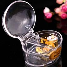 The gilded shell acrylic music box music box gift handicraft decoration romantic birthday gift
