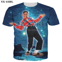 Dropshipping New Fashion Men Short Sleeve Summer T shirt Cartoon Character Urkel in Space Printing T-shirt Hip Hop Tees Tops