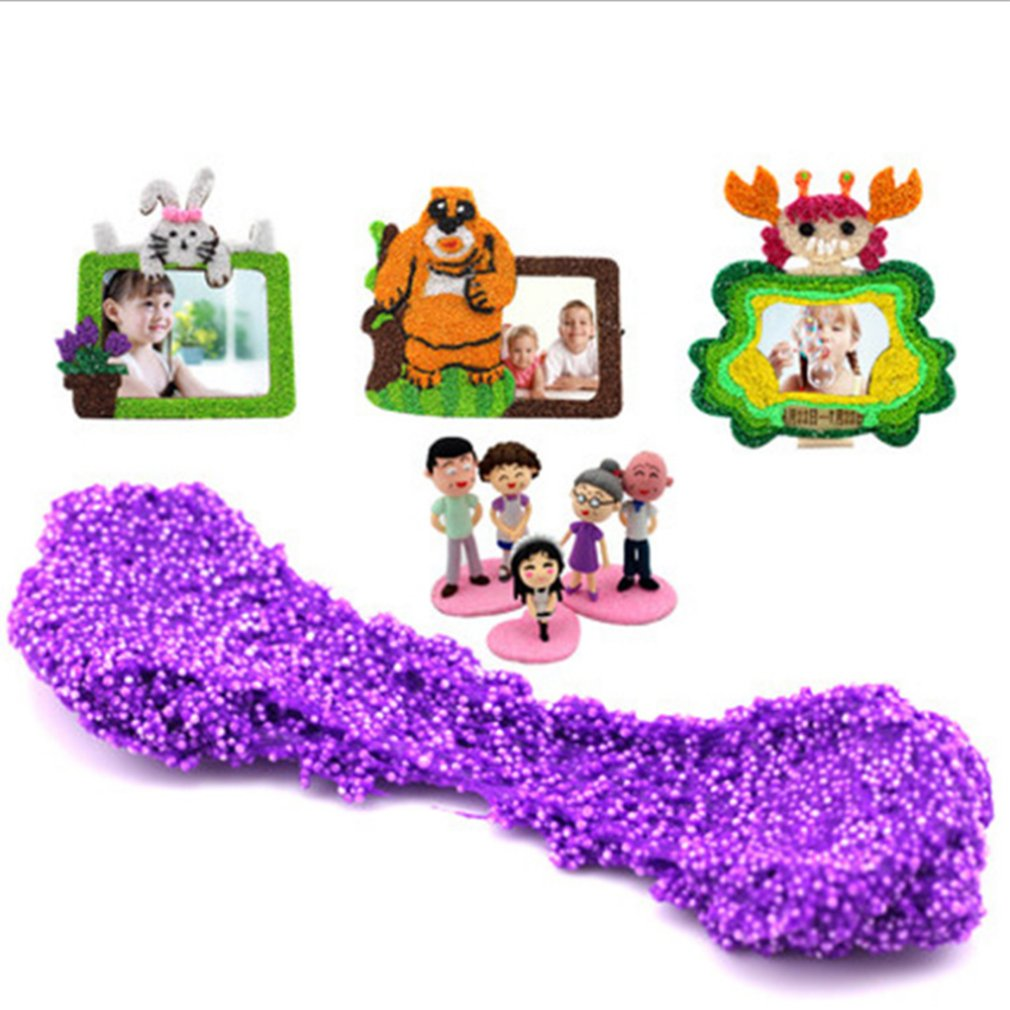OCDAY 24 Colors Snow Mud Fluffy Floam Slime Putty Educational Toy Stress Relief Kids DIY No Borax Non-stick Hand Puzzle Clay Toy