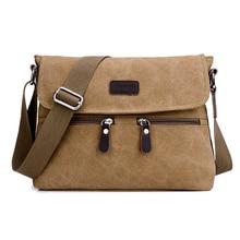 Men Quality Multifunction Men Canvas Bags Khaki Casual Travel Men Crossbody Shoulder Bag Men Messenger Bags 32*7*25 CM