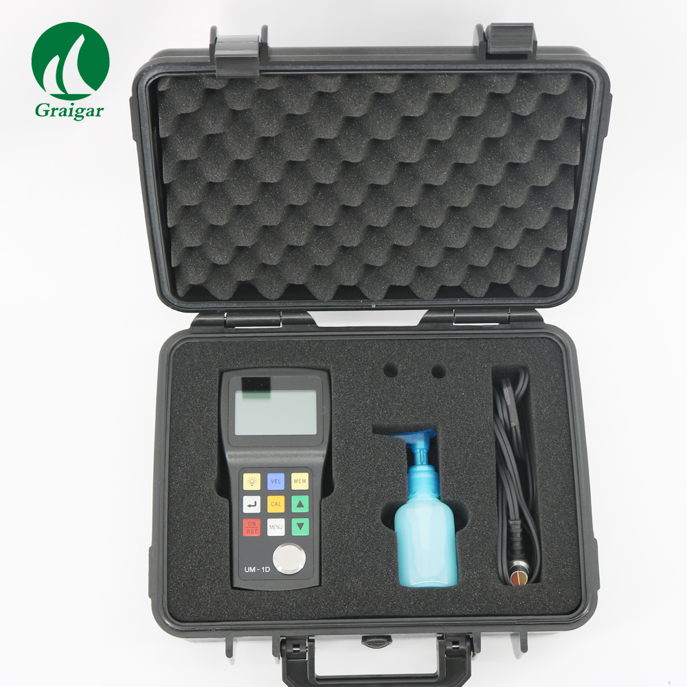 0.8 300mm Through Ultrasonic Thickness Tester Coating Thickness Meter Gauge Thickness UM 1D ultrasonic thickness coating thickness thickness meter - title=