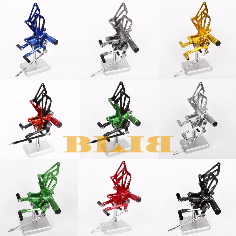8 Colors CNC Rearsets For Suzuki GSXR 750 1996 - 2005 Rear Set Motorcycle Adjustable Foot Stakes Pegs Pedal 2003 2002 2001 2000 new cnc motorcycle rearsets foot pegs rearset golden color for suzuki gsxr750 1996 2005 1997 19998 1999 2000 2001