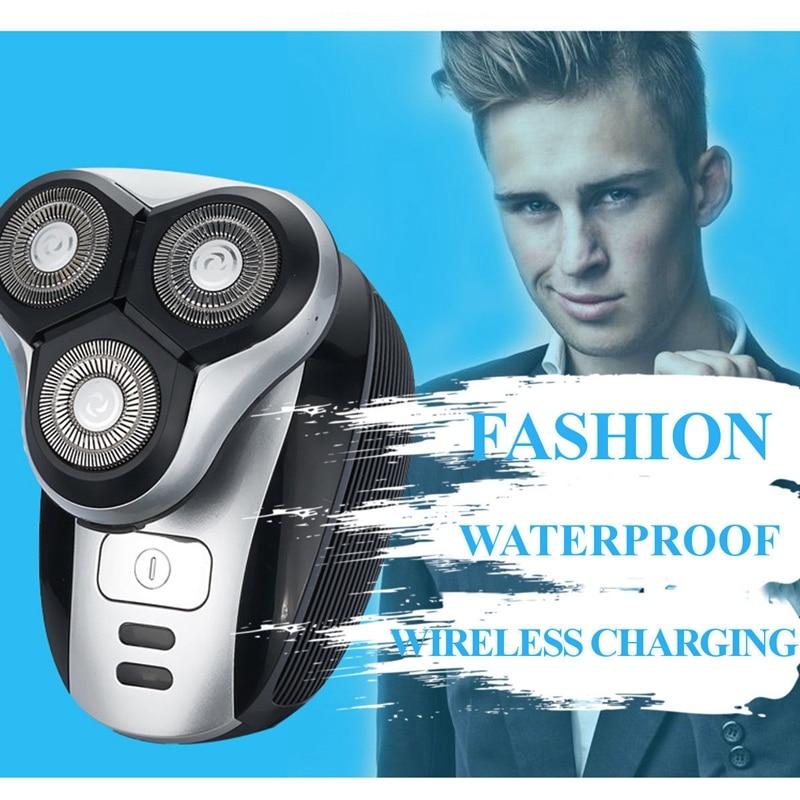 Tondeuse à barbe électrique sans fil tête flottante épilateur charge sans fil - 6