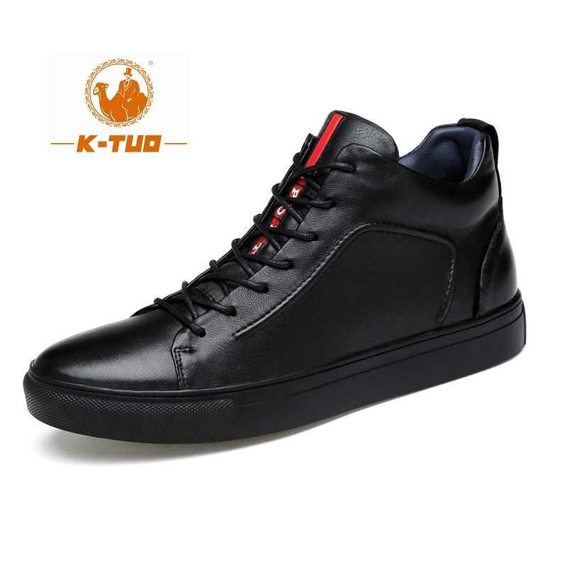 K-TUO ใหม่มาถึงผู้ชาย Wome ฤดูหนาวรองเท้าสเก็ตบอร์ดนักเรียนกีฬาของแท้หนังรองเท้าผ้าใบ Lover รองเท้าสเก็ตบอร์ด KT-2069