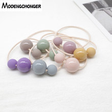 5pcs Hot Selling Colored Beads Elastic Hair Band Ponytail Scrunchies Rubber Ties For Girls Women Accessories