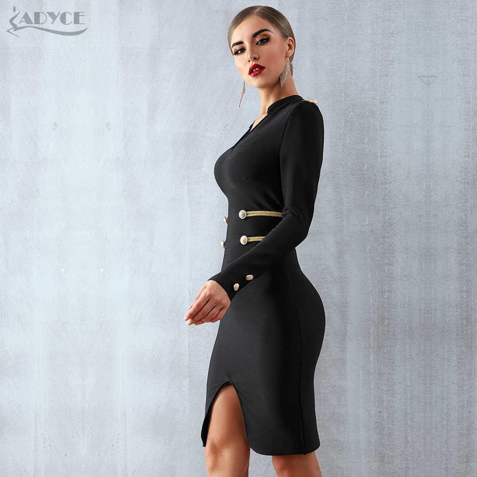 0249d43e567 ... Adyce 2019 New Spring Bandage Dress Women Elegant Celebrity Evening  Party Dress Vestidos Sexy Long Sleeve ...