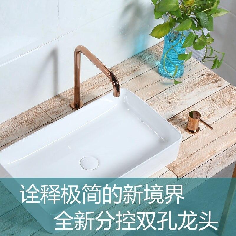 kitchen 360 degree rotating copper matt Black basin faucet hot and cold water vegetables a sink mixer tap Split basin faucets