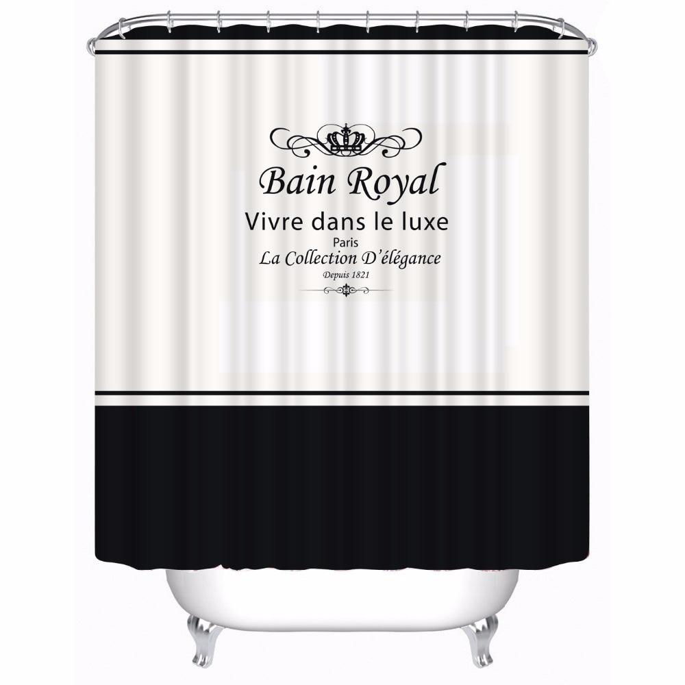 Royal Crown White Fabric Bathroom Shower Curtain Polyester Waterproof Bathroom Set Size 180x180cm,180x200cm zwbra shower curtain