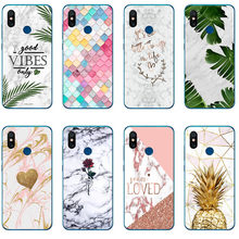 Vibes Flower Leaf Print Pineapple Marble Rose Back Cover Phone Cases For Redmi Note 6 Note5 Pro 5A Mi 5c xiaomi 8 SE Redmi 6 Pro(China)