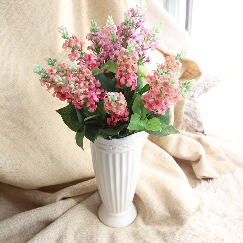 High Quality Vivid Artificial Flowers Hyacinth Posy Fake Plants Desktop  Wedding Home Decoration Silk Flower House