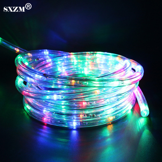 Sxzm ac220v flexible led strip light waterproof multicolor rainbow sxzm ac220v flexible led strip light waterproof multicolor rainbow tube with 8 modes for outdoor garden mozeypictures Images