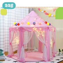 AAG Folding Children Tent Play House Toys Baby Game Tent Play Yurt Sports Kids Indoor Outdoor Beach Tent Toys Princess Castle 30 цена 2017