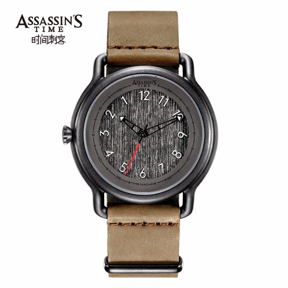 Assassin's tijd heren horloges topmerk luxe quartz horloges zwart - Herenhorloges - Foto 4