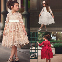 Summer Tutu Dress For Girls Dresses Kids Lace Flower Princess Tulle Party Pageant Dresses Clothes