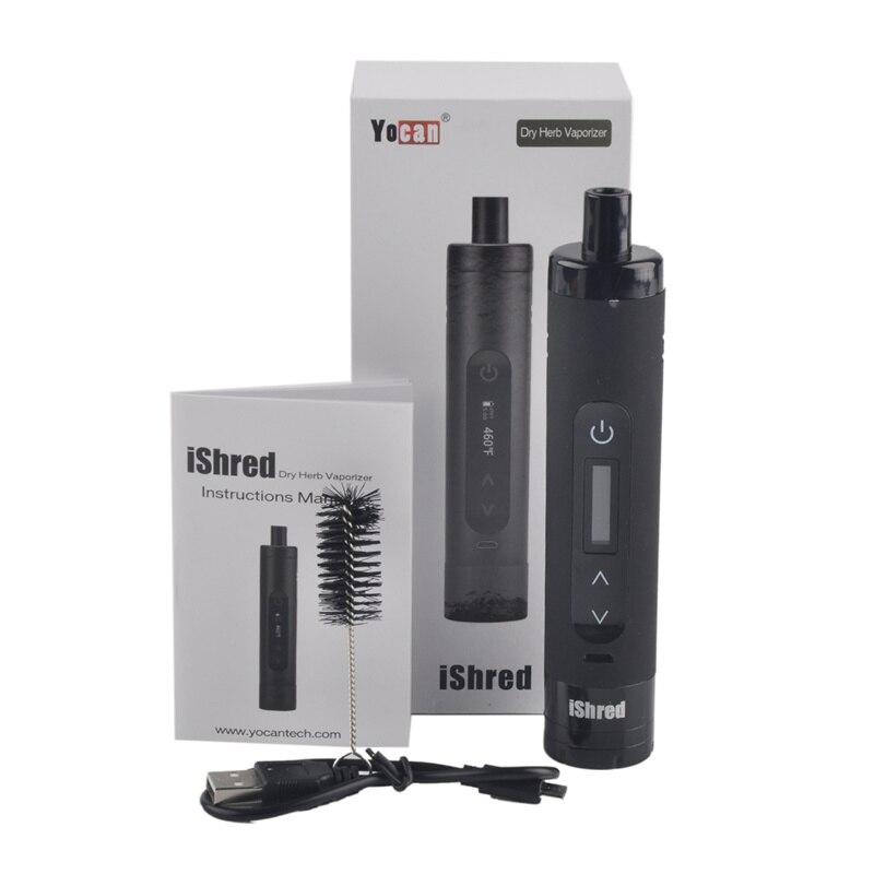 Kits originaux de stylo vaporisateur d'herbe sèche d'ishred Kit de stylo de Vape de Cigarette électronique de broyeur d'herbe intégré par batterie de 2600 mah