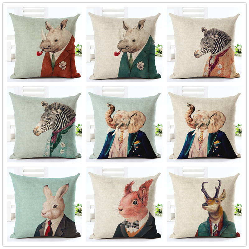 2017 New Animals Series Print Cushion cover Home Decor Decorative - Home Textile - Photo 1