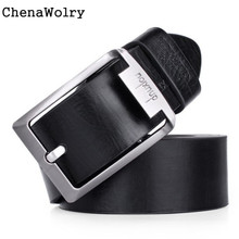 ChenaWolry 1PC Fashion Accessory Luxury New Mens Leather Single Prong Belt Business Casual Dress Metal Buckle Oct 12