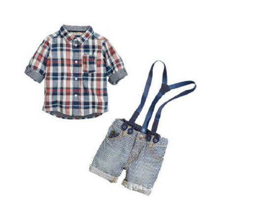 Бесплатная доставка детей мальчик одежда установить дети мальчик слинг ремень джинсовый костюм одежда ребенка рубашку + ремень жан комплект