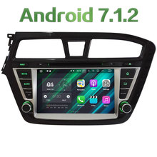 "8"" Android 7.1 HD 2GB RAM Quad Core Multimedia Car DVD Player Radio Stereo GPS Navi For Hyundai I20 Left Hand Driving 2014-2017"