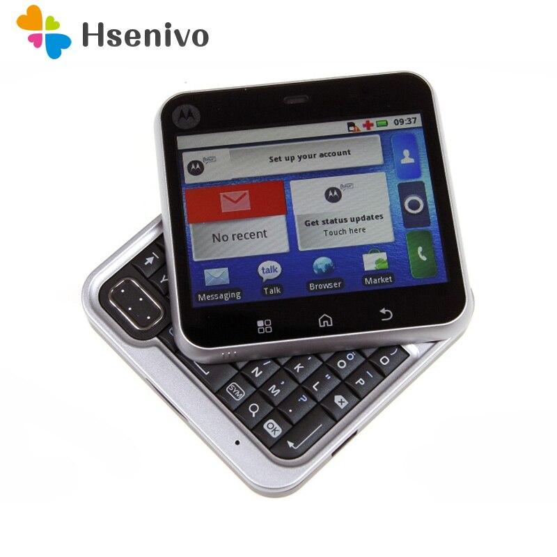 MB511 original Entsperrt Drehbare Motorola MB511 Android OS GPS WIFI 2,8 3.0MP GSM Handy Freies verschiffen