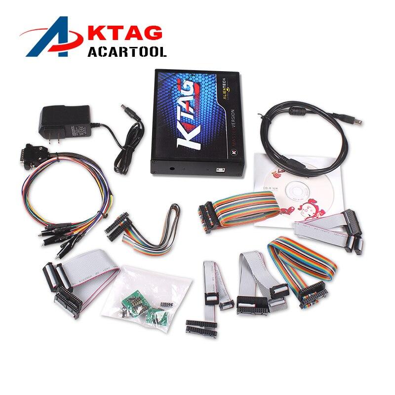 Prix pour V2.13 KTAG K-TAG Programmation de L'ECU Outil Maître Version avec Aucun Jeton Limitation Matériel V6.070 KTAG K TAG ECU Chip Tunning