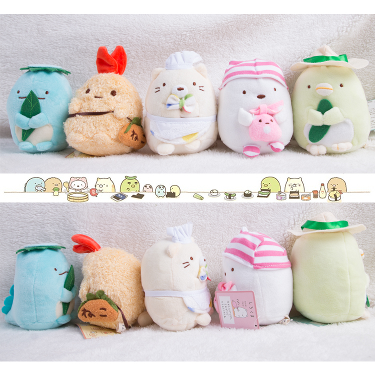 5 Models 5Inch Soft San-X plush pendants Sumikko gurashi plush Doll with Mini toys Stuffed Plush Toy hot sale 50cm the last airbender resource appa avatar stuffed plush doll toy x mas gift kawaii plush toys unicorn