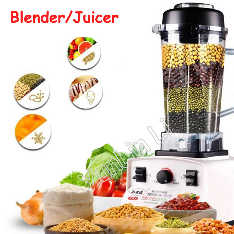 Commercial Blender 1200W 220V Juicer Food Fruit Mixer in White Color 767L commercial blender mixer juicer power food processor smoothie bar fruit electric blender ice crusher