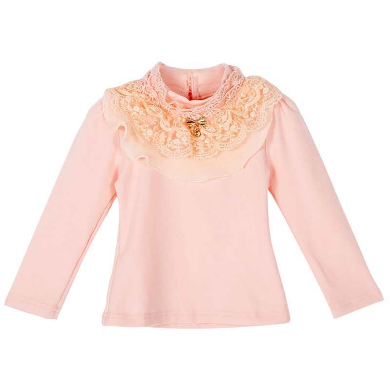 Autumn Spring Child Kids Baby Girl Long Sleeve Blouse Tops Floral Lace Collar T shirts 2358