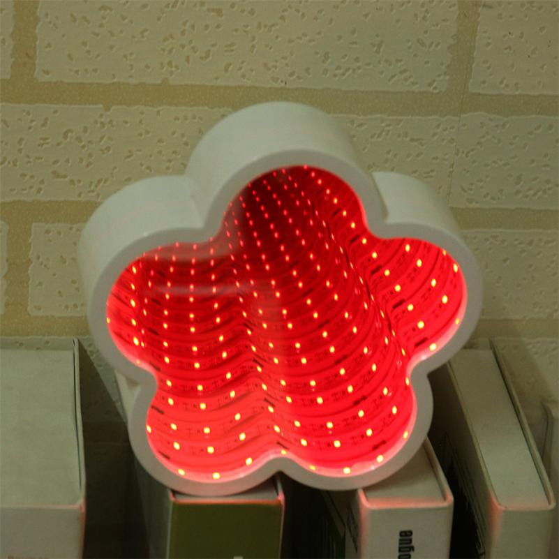 Marquee LED Night Light Bedroom Tunnel Modeling Home Decor Battery Wall Lamp lamp For Baby Gift Romantic Colorful Lights