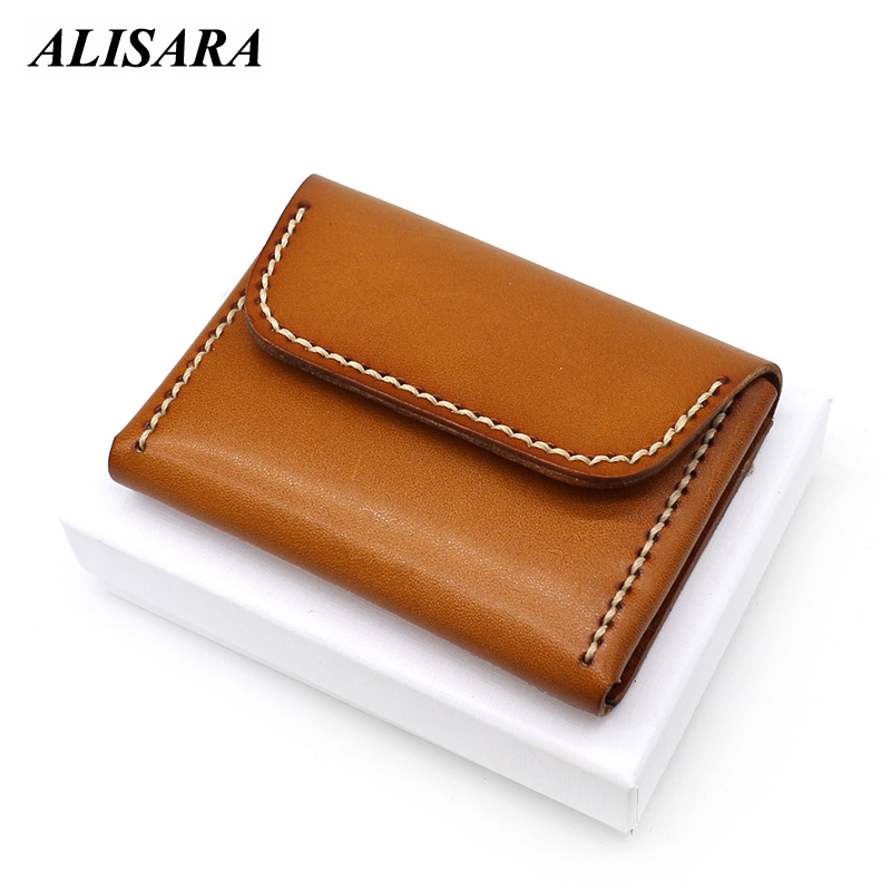 Leather credit card holder,ID card holder,business card holder,handmade,brown