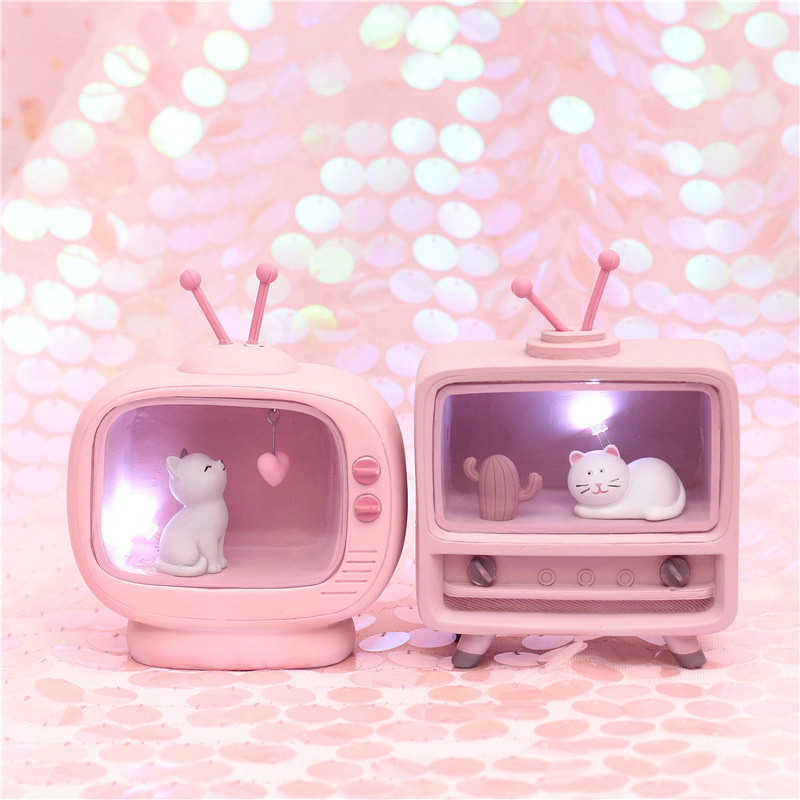 Kawaii Cat Music Box Mini Lamp