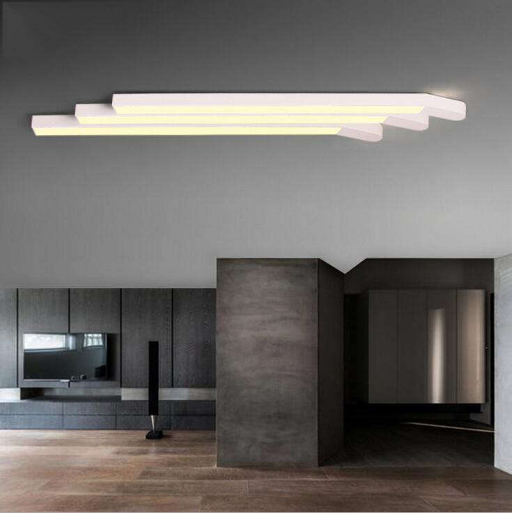 Us 107 6 60 Off New Match Simple Creative Office Living Room Bedroom Aisle Corridor Led Strip Ceiling Light Lighting Fixture Led Lamps Ceiling In
