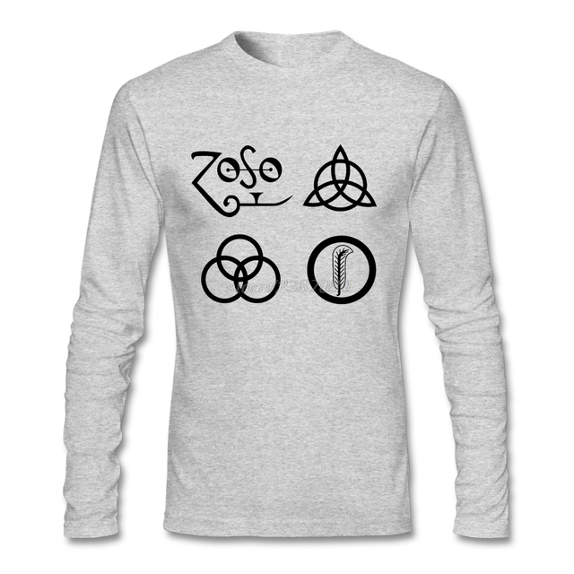 New Europe and American Led Zeppelin Zoso Logo T Shirt For Men ...
