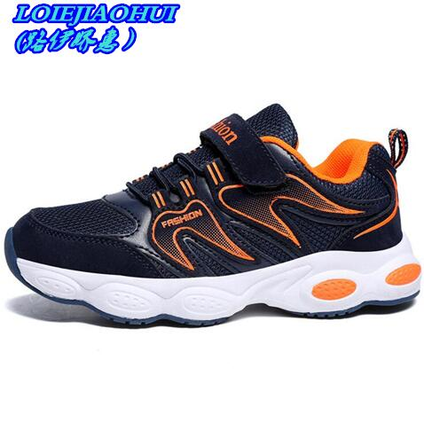 Childrens Running Shoes 2018 Spring Autumn Flame Boys Breathable Kids Mesh Sneakers Black Leather School Shoes Girls Sneakers